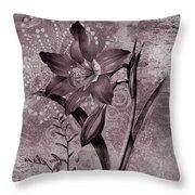 Single Lily-vintage Series  Throw Pillow