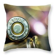Single Luger Throw Pillow