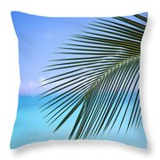 Single Palm Frond Throw Pillow