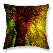 Single Palm Throw Pillow