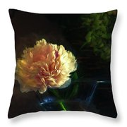Single Peony Throw Pillow