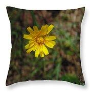 Single Yellow Flower Throw Pillow