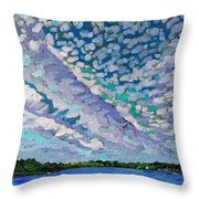 Singleton Altocumulus Morning Throw Pillow