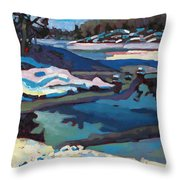 Singular Ice And Snow Throw Pillow