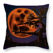Sinister Moon Throw Pillow