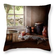 Sink - The Morning Chores Throw Pillow by Mike Savad