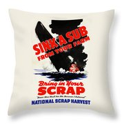 Sink A Sub From Your Farm Throw Pillow
