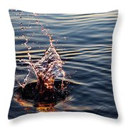 Sink And Surge Throw Pillow