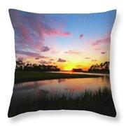 Sink Creek Sunset Throw Pillow