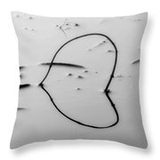 Sinking Heart Throw Pillow