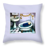 Sinking Or Floating Throw Pillow
