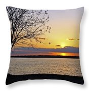 Sinking Sun Throw Pillow