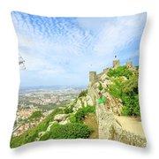 Sintra Castle Aerial Throw Pillow