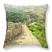 Sintra Moorish Castle Wall Throw Pillow