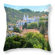 Sintra National Palace Aerial Throw Pillow