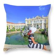 Sintra Travel Woman Throw Pillow