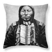 Sioux: Crow King Throw Pillow