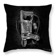 Sioux Drill Motor 1/2 Inch Bw Throw Pillow