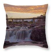 Sioux Falls Sunset Throw Pillow
