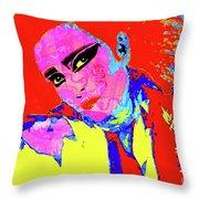 Siouxsie With Dragon Tattoo Throw Pillow