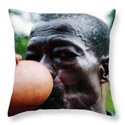 Sipping Palm Wine Throw Pillow