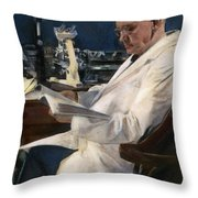 Sir Alexander Fleming Throw Pillow