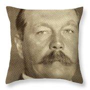 Sir Arthur Conan Doyle, 1859 -1930 Throw Pillow