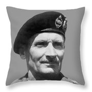 Sir Bernard Law Montgomery  Throw Pillow