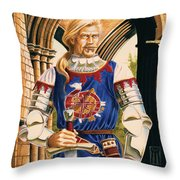 Sir Dinadan Throw Pillow