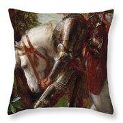 Sir Galahad Throw Pillow