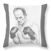 Sir Henry Cooper Obe Throw Pillow