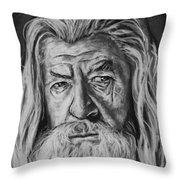 Sir Ian Mckellen As Gandalf The Grey Throw Pillow