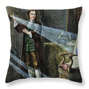 Sir Isaac Newton Throw Pillow