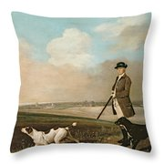 Sir John Nelthorpe Throw Pillow by George Stubbs