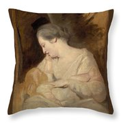 Sir Joshua Reynold Throw Pillow