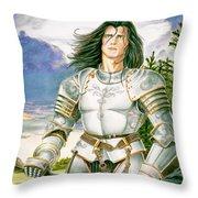 Sir Lancelot Throw Pillow by Melissa A Benson