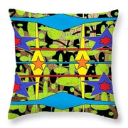 Sir Mbonu Christhe Arts Of Textile Designs #30 Throw Pillow