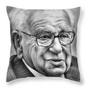 Sir Nicholas Winton Throw Pillow