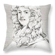 Sir Peter Lely, 1618 Throw Pillow