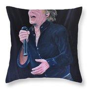 Sir Rod Stewart Throw Pillow