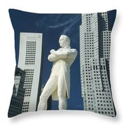 Sir Stamford Raffles Throw Pillow