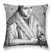 Sir Thomas More (1478-1535) Throw Pillow by Granger