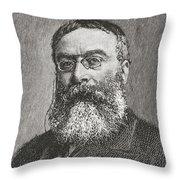 Sir Walter Besant, 1836 -1901. English Throw Pillow
