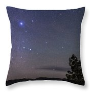 Sirius & Canis Major Rising In New Throw Pillow