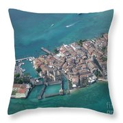 Sirmione's Castle Throw Pillow
