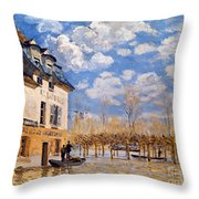 Sisley: Flood, 1876 Throw Pillow