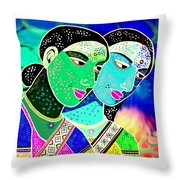 Sister Bonds-2 Throw Pillow
