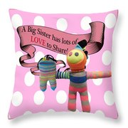 Sister Love Throw Pillow