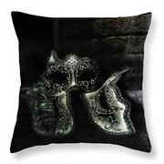 Sister Masks Throw Pillow