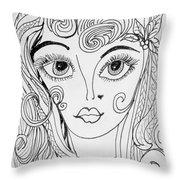 Sisterhood Of The Doodling Pens 4 Throw Pillow